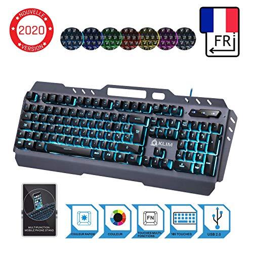 KLIM Lightning Hybrid Halbmechanische Tastatur AZERTY Französisch