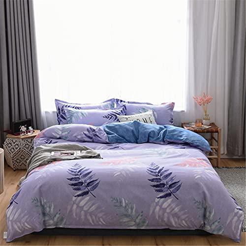 YYSZM Funda Nórdica Ropa De Cama Textiles para El Hogar Moda Simple Suave Y Agradable para La Piel Juego De 4 Piezas Hipoalergénico 200x230cm