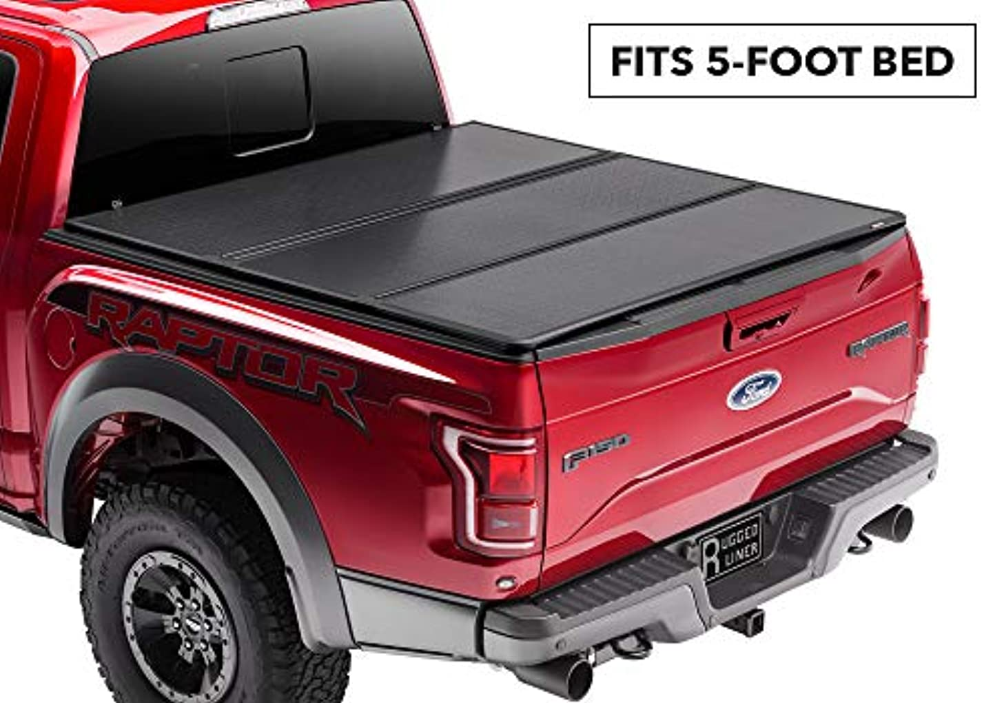 Rugged Liner Premium Hard Folding Truck Bed Tonneau Cover   HC-T516   fits 16-18 Toyota Tacoma Double Cab  5ft. (with utility track), 5' bed