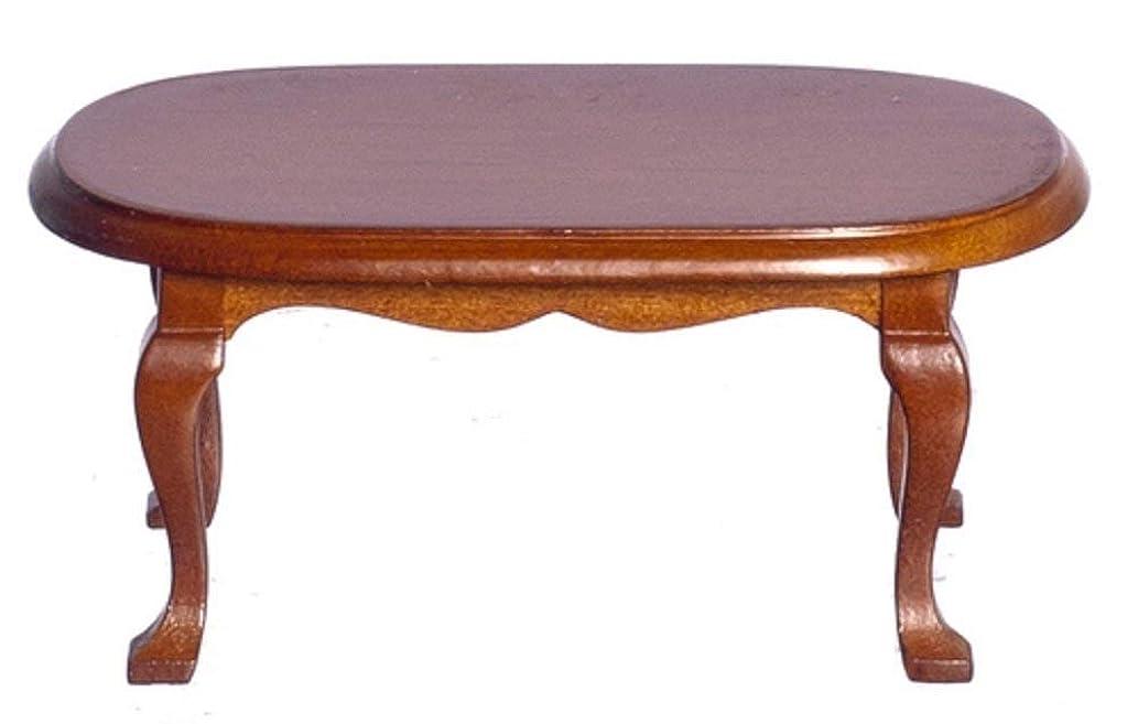 風味人類ミッションDollhouse Miniature 1:12 Scale Walnut Coffee Table D6848