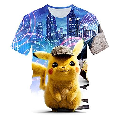 T-Shirt Männer/Frauen/Pokemon Im Freien Freizeit-bequemen Halbarm G-L