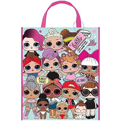 Unique Party Supplies 79130 Große Partytasche aus Kunststoff - LOL Überraschungsparty - 33cm x 28cm