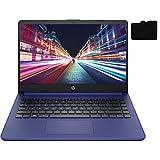2021 Newest HP Laptop, 14' HD Display, Intel Dual-Core Processor Up to 2.8GHz, 16GB DDR4 RAM, 192GB Storage (64GB eMMC + 128GB MicroSD), Webcam, Bluetooth, HDMI, Windows 10 + Oydisen MicroSD