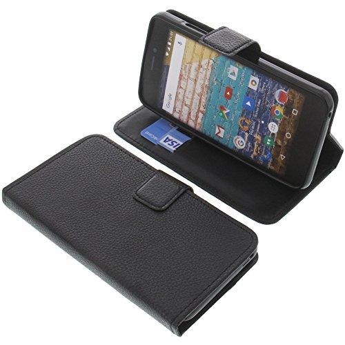 foto-kontor Tasche für Archos 50f Neon Book Style schwarz Schutz Hülle Buch