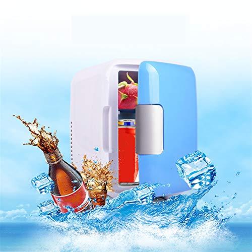 4 litros Mini refrigerador Refrigerador portátil y aislamiento AC / DC Fuente de alimentación Bajo ruido Adecuado para el dormitorio Office Car Travel Una variedad de artículos
