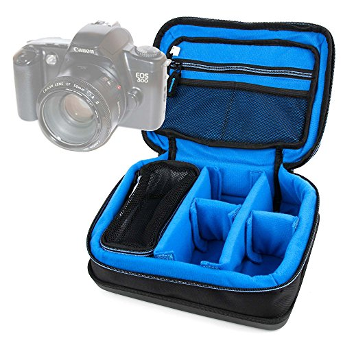 DURAGADGET Bolsa Acolchada Profesional Negra con Compartimentos para Cámara Canon 500 EOS...