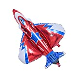 42' Fighter Jet Airplane Ballons Cartoon Flying Party Birthday Foil Ballon Decor Aircraft Kids Toy