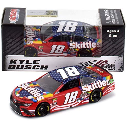 Lionel Racing Kyle Busch 2019 Skittles Red White and Blue NASCAR Diecast Car 1:64 Scale
