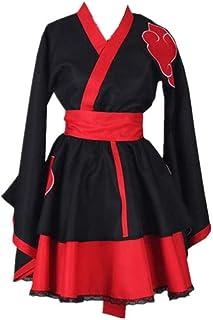 ULLAA Anime Naruto Akatsuki Halloween Karneval Cosplay Kostüm Lässig Lolita Gothic Japanisch Kimono Kleid Plus Size Hohe Qualität