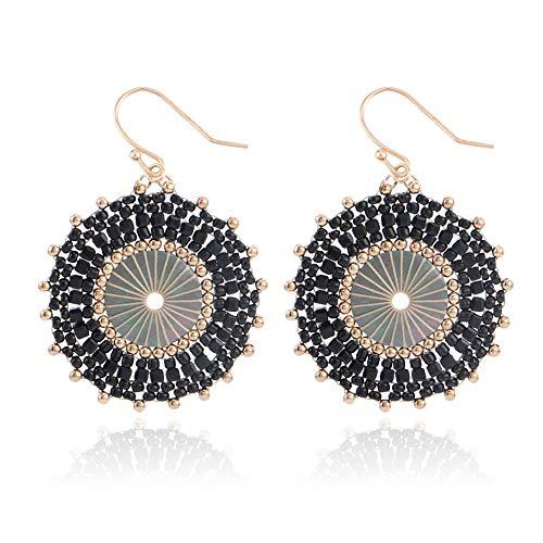 Drop Earrings for Women, Badu Pure Handmade Earrings Bohemian Acrylic Dangle Beads Earrings Best Christmas Gift