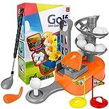 LOYO Kids Golf Clubs Set - Toddler-Golf-Clubs Outdoor Lawn Sport Toys, Golf Balls Play Set with Training Golf Balls & Clubs Equipment, Gift for Preschool Boys Age 4, 5, 6,