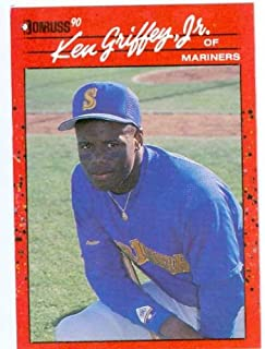 Ken Griffey Jr. baseball card 1990 Donruss #365 (Seattle Mariners)