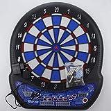 HYZXK Freccette Freccette elettroniche da 17 Pollici Set da Tavolo Display LCD Punteggio Automatico Freccette Tabellone segnapunti Voce con tabellone per Freccette morbide 6pc