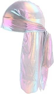 Yezijin Men Women Silk Polyester Bandana Hat Durag Rag Tail Headwrap Headwear Gift