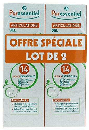 Puressentiel Articulations & Muscles Gel aux 14 Huiles Essentielles Lot de 2 x 60 ml