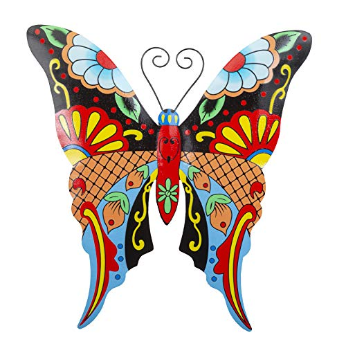 7. Whimsical Butterfly Metal Wall Art