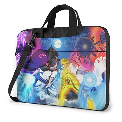 15.6″Lightweight Laptop Notebook Shoulder Backpack Bag Na-R-u-to Waterproof PC Briefcase Messenger with Strap