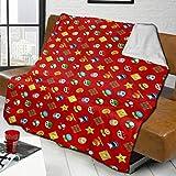 Yoshi Super Smash Bros Mario Blanket Novelty Gift Merchandise Blanket Throw Ultra Soft Micro Fleece Lamb Blanket Cozy Fuzzy Luxury Blanket Plush Microfiber Bed Sofa Blanket for Kids Adult(3 Sizes)