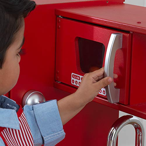 KidKraft 53173 Vintage-Spielküche aus Holz, Rot - 8