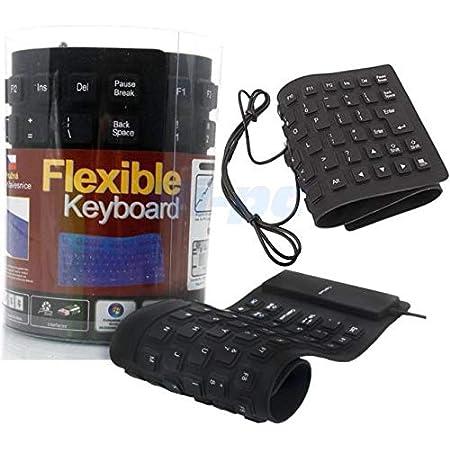 No brand Teclado de silicona USB para PC ordenador Tablet impermeable 85 teclas Peso: 180 gramos Longitud: 34,9 cm Ancho: 13,2 cm Espesor: 1 cm ...