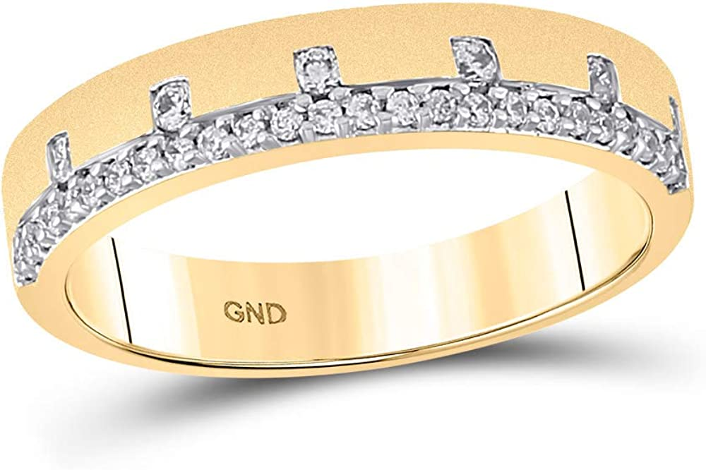 14kt Chicago Mall Yellow Free shipping / New Gold Womens Round Diamond 1 Band Cttw 4 Ring