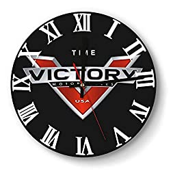 ERTMU Wall Clock Creative Mute Victory-Motorcycle-USA-Cross-Country- Digital Clock for Office