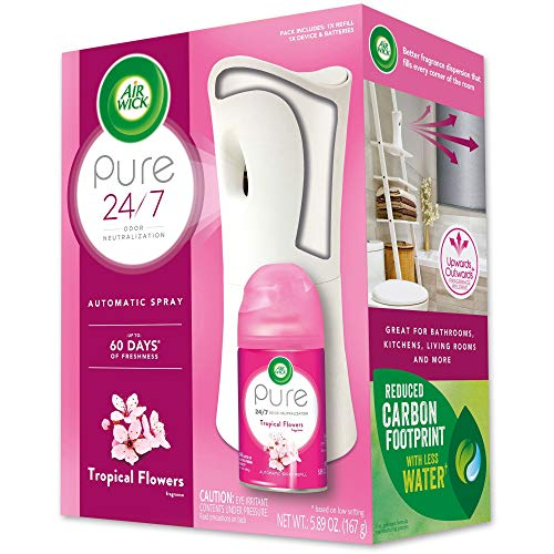 Air Wick Pure Freshmatic Automatic Spray Kit (Gadget + 1 Refill), Tropical Flowers, Air Freshener