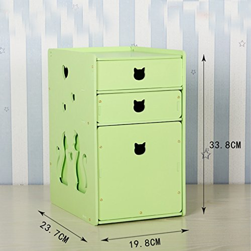 Toilettes étanches Boîte de rangement cosmétiques Boîte de rangement Housse de protection anti-poussière en forme de L Tiroir en L (couleur : Cyan)