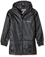 Taped seams; integral hood; adjustable drawcord hem age 7+; two lower pockets; elasticated cuffs Windproof fabric
