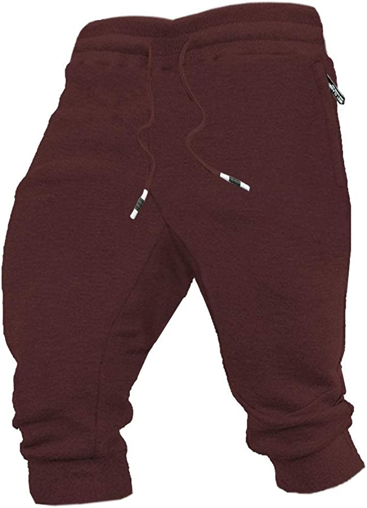Wohthops Men's 3 4 Jogger Basketball Shorts Capri Superior Bodybuil Sale special price Pants