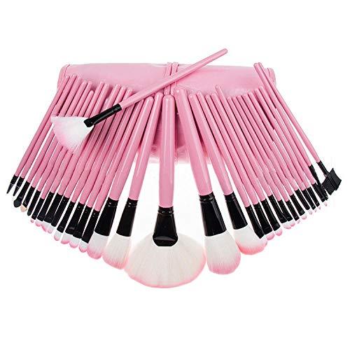 MPKHNM Beauty tools 32 black makeup brush set pink makeup lychee pattern 32 pink (B) pu bag portable models