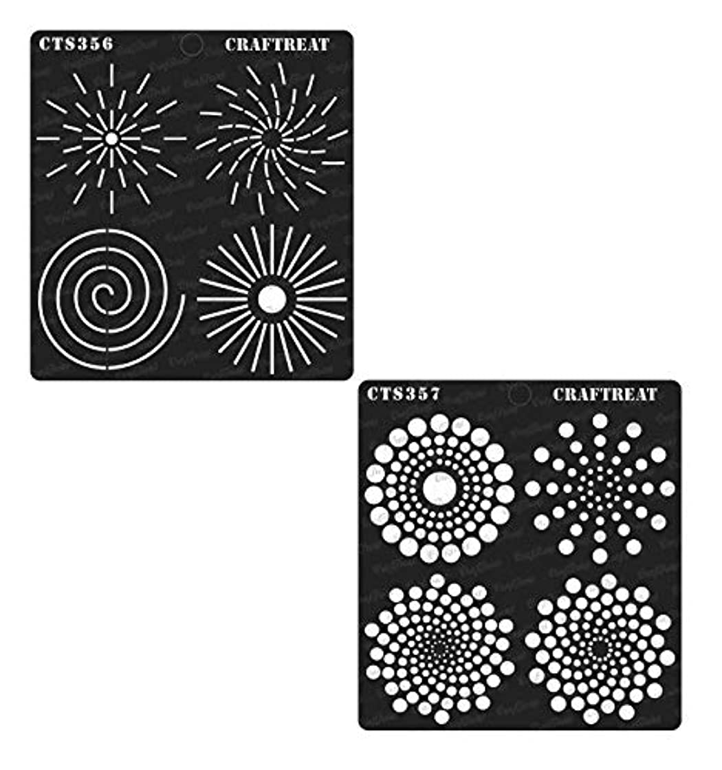 CrafTreat Stencil - Dot Mandala Outlines & Dot Mandala Basics (2 pcs) | Reusable Painting Template for Home Decor, Crafting, DIY Albums and Printing on Paper, Floor, Wall, Tile, Fabric, Wood 6