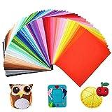 tronisky Hoja de Fieltro, 40 Colores No Tejido Tela de Fieltro Suave Felt Fabric para Manualidades Patchwork Costura DIY Artesanía 20*30cm, 40 Piezas