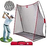 CLORIS Large Heavy Duty Golf Net, 10x7ft Golf Practice Net for Indoor Outdoor Garage Backyard,Portable Golf Hitting Net W/Carry Bag (golf net)