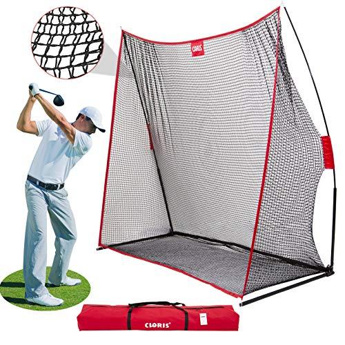 CLORIS Red de golf de gran resistencia, 10 x 7 m, para practicar golf en el jardín, en interiores, portátil, con bolsa de transporte