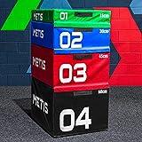 METIS Cajas de Salto Pliométricas de Espuma Suave Caja de Crossfit para Casa o Gimnasio | Jump Box para Entrenamiento | Conjunto de Cajones de Salto para Pliometría (30cm (Azul))