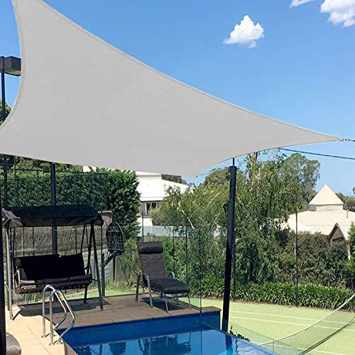 Artpuch 8'x10' Rectangle Sun Shade Sail Canopy Light Grey Sunshade Cover for Patio Outdoor Backyard Garden Playground