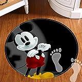 ROOMBA - Alfombrillas de baño redondas para decoración de baño, antideslizantes, para suelos, ducha, cocina, tapete de franela de 50,8 cm, el mejor Mickey Mouse