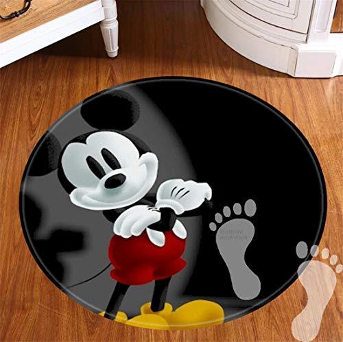 ROOMBA Runde Badematten für Badezimmer, rutschfeste Unterseite, Badvorleger für Böden, Dusche, Küche, Flanell, 50,8 cm – Best Mickey Mouse