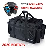 SHIELDABLE 23'x14'x15' Insulated Food Delivery Bag with DIVIDER- Food Warmer Bag for Catering - Hot Cold Insulated Bag - Waterproof Insulated Grocery Bag - UberEats DoorDash Food Transport Carrier Bag