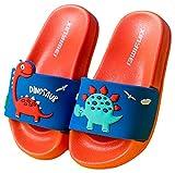 Vorgelen Zapatos de Playa y Piscina para Niños Bañarse Chanclas para Niña y Niño Zapatillas Baño de Estar por Casa Verano Rojo Azul 32/33 EU = Fabricante 33/210