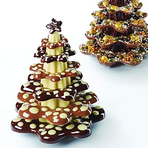 PAVONI bakvormset dennen kerst chocolade