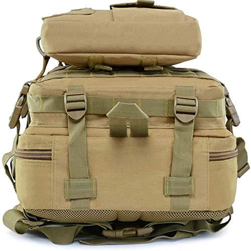 MVNZXL Mochila Militar para Acampar del ejército, Mochila de Caza, Bolsa Militar de Asalto táctico al Aire Libre para Adultos de 30 l para Acampar, Cazar, Trekking en Vivo(Color:Khaki)