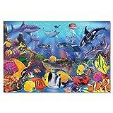 Melissa & Doug- Underwater Floor Puzzle Rompecabezas de Piso Bajo el Agua, Multicolor (427)