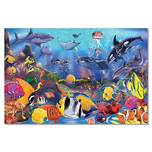 Melissa & Doug Fußbodenpuzzle - Unterwasserwelt (48 Teile)