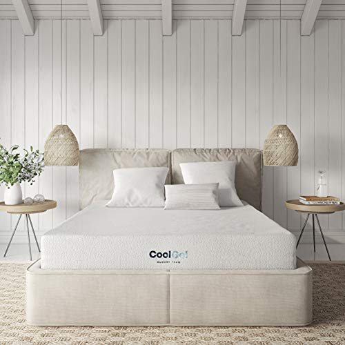 Classic Brands Cool Ventilated Gel Memory Foam 8-Inch Mattress, Short Queen, White