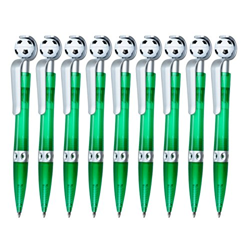 Kugelschreiber Goalie 9 Stück Mitgebsel Kindergeburtstag Fußball, grün