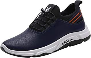 Waymine Men's Sneakers Running Shoes Slip-On Sport Shoes Solid Comfortable Outdoor Round Toe Footwears Basketball Shoes