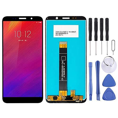 Handy-Reparatur-Set LCD-Display und Digitizer Vollversammlung for Lenovo A5 L18021 L18011 (Schwarz) Ersatzteil (Color : Black)
