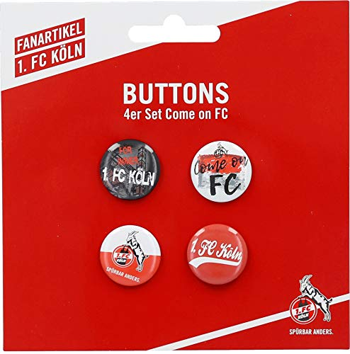 1. FC Köln Anstecker/Buttons ** Come on FC ** 4er-Set